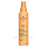 Spray Solaire Visage Et Corps Haute Protection Spf 50 Nuxe Sun150ml à Bordeaux