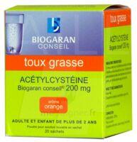 Acetylcysteine Biogaran Conseil 200 Mg Pdr Sol Buv En Sachet B/20 à Bordeaux