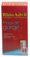 Rhinadvil Maux De Gorge Tixocortol/chlorhexidine, Suspension Pour Pulvérisation Buccale à Bordeaux