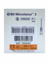 BD MICROLANCE 3, G25 5/8, 0,5 mm x 16 mm, orange  à Bordeaux