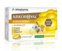 Arkoroyal Propolis Pastilles adoucissante gorge guimauve miel citron B/24 à Bordeaux