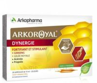 Arkoroyal Dynergie Ginseng Gelée Royale Propolis Solution Buvable 20 Ampoules/10ml à Bordeaux