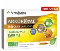 Arkoroyal Gelée Royale Bio Sans Sucre 1500mg Solution Buvable 20 Ampoules/10ml à Bordeaux