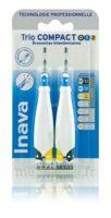Inava Brossettes Tri Compact étroit  012 Noir 0,6mm/ Bleu 0,8mm/ Jaune 1mm à Bordeaux
