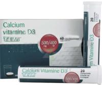 Calcium Vitamine D3 Teva 500 Mg/400 Ui, Comprimé à Sucer Ou à Croquer à Bordeaux