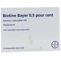 BIOTINE BAYER 0,5 POUR CENT, solution injectable I.M. à Bordeaux