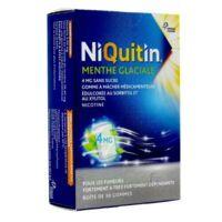 NIQUITIN 4 mg Gom à mâcher médic menthe glaciale sans sucre Plq PVC/PVDC/Alu/30 à Bordeaux