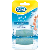 Scholl Velvet Smooth Wet&dry Rouleaux De Remplacement Grain Exfoliant à Bordeaux