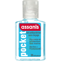 Assanis Pocket Gel antibactérien mains 20ml à Bordeaux