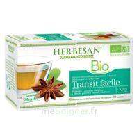 Herbesan Infusion Bio Tisane transit facile 20 Sachets à Bordeaux