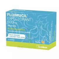 Fluimucil Expectorant Acetylcysteine 600 Mg Glé S Buv Adultes 10sach à Bordeaux