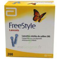 Freestyle Lancets Lancettes Stériles De Calibre 28g B/200 à Bordeaux